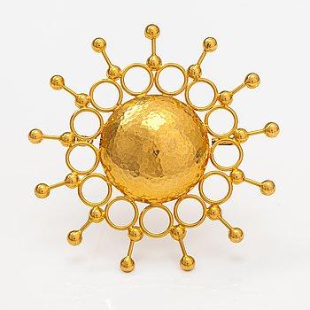 A 14K gold brooch. Westerback, Helsinki 1970.