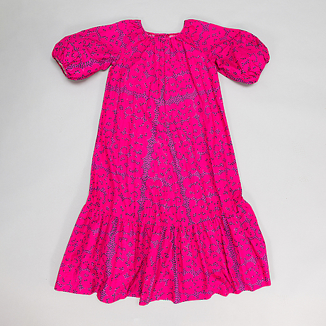 "Marimekko, ""rakkauskirje"" dress, print ""tarha"", by annika rimala, 1963."