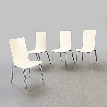 """Philippe Starck, chairs, 4 pcs, """"Olly tango"""", Driade Aleph, Italy."""
