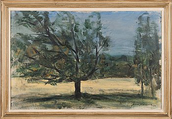 Aimo Kanerva, oil on canvas, signed and dated -54.