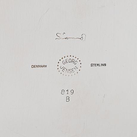 Sigvard bernadotte, cocktail shaker, sterlingsilver, firma georg jensen, denmark after 1945, model 819 b.