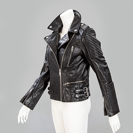 Burberry, leather jacket, burberry brit, size 38.