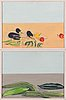 Peter ern, diptych, tempera on paper, unsigned.