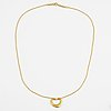"""Tiffany & co pendant with chain """"open heart"""" in 18k gold."""