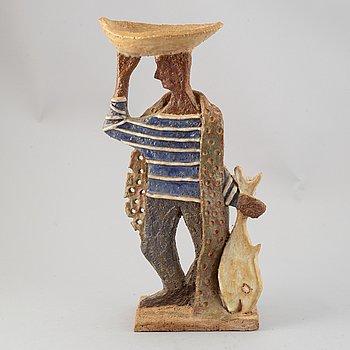 Francoise Bourget, a ceramic sculpture, Studio Les Argonautes, France, mid 20th Century.