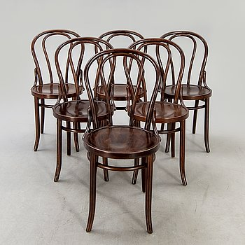 Chairs, 6 pcs, bentwood, second half of the 20th century.