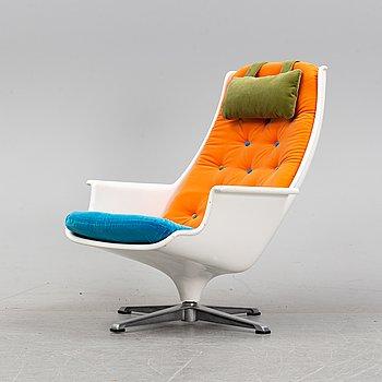 A 'Tellus' easy chair by Alf Svensson and Yngvar Sandström, Göte-Möbler, Nässjö AB, 1970's.