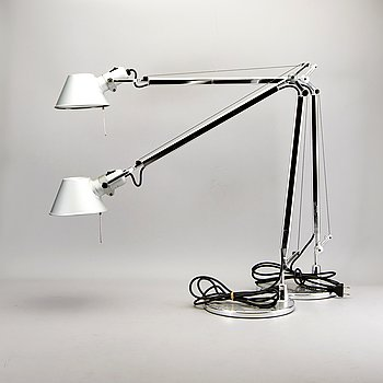 """A pair of table lamps / floor lamps, """"Tolomeo"""", Michele De Lucchi and Giancarlo Fassina, Artemide Italy."""