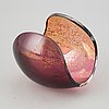 Lena bergström, a 'planets' glass sculpture/bowl from kosta, sweden. signed and numbered 256/500.