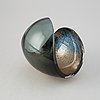 Lena bergström, a 'planets' glass sculpture/bowl from kosta, sweden. signed and numbered 432/500.