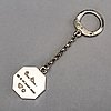 A swedish 20th century silver key chain marked wiwen nilsson lund 1967, weight 21 gr.