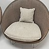 """A pair of armchairs/garden armchairs """"gigi cocoon"""" from vincent shepard, england, 2000s."""