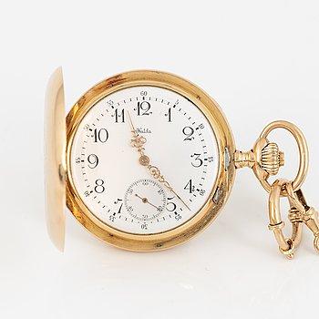 Halda Fickurfabrik, pocket watch, hunter, 52 mm.