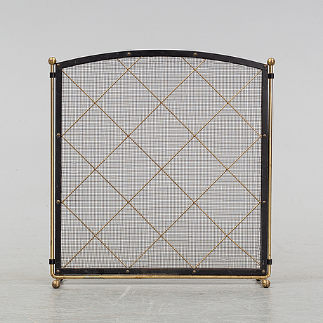A fireplace guard, mid 20th century.
