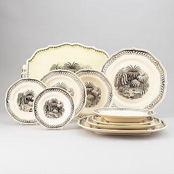 A 67 piece creamware dinner service by Arthur Percy, Gefle.