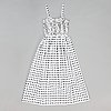 "Marimekko, ""suhina"" dress, print ""sokkoruutu"", by pentti rinta, 1976."
