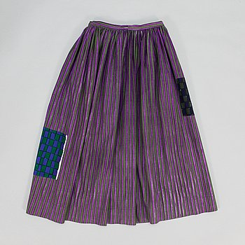"Armi Ratia, ""Witch"" kjol, unik, Marimekko, 1950-tal."