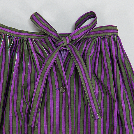 "Armi ratia, ""witch"" skirt, unique, marimekko, 1950's."