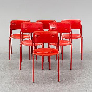 Six 'Folke' chairs by Niels Gammelgaard/ Box 25 Arkitekter, IKEA, 1970's.