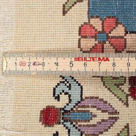 A rug, oriental, figural, ca 247 x 158 cm.