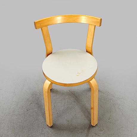 Alvar aalto, chairs, 2 pcs, model 68, 1960s, finland.