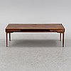 A 1960's rosewood coffee table.