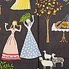 "A gocken jobs ""fru lusta"" textile, three pcs."