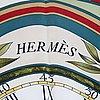 Hermès, a 'la ronde des heures' silk scarf'.