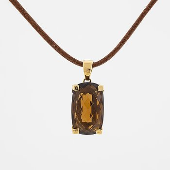 18K gold and citrine necklace, Le-Gi, Italy.
