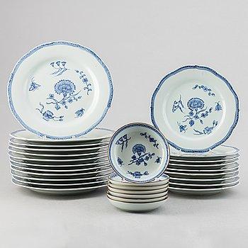A 28-piece porcelain service, 'Nejlika', IKEA, from IKEA's 18th Century series, 1990's.