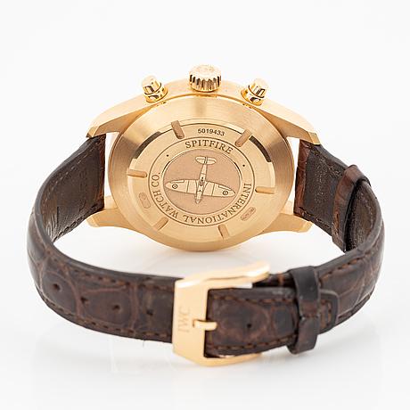 Iwc, pilot, spitfire, chronograph, wristwatch, 43 mm.