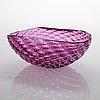 """Archimede seguso, skål, """"griglia"""", murano, 1960-tal."""