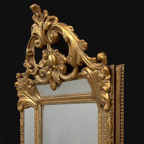 Mirror, rococo style, late 19th century.
