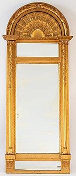 A Swedish Empire mirror by Johan Martin Berg (Gothenburg 1803- ca 1837).