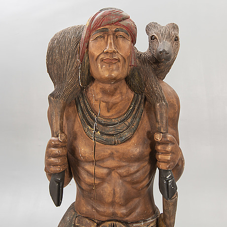 Sculpture, wood, second half of the 20th century.