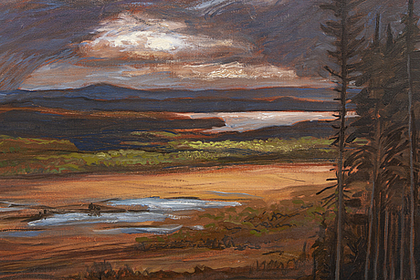 Jörgen zetterquist, oil on canvas. signed.