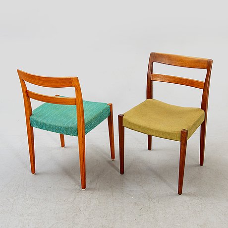 Chairs, 8 pcs, nils johansson, troeds, sweden, 1960s.