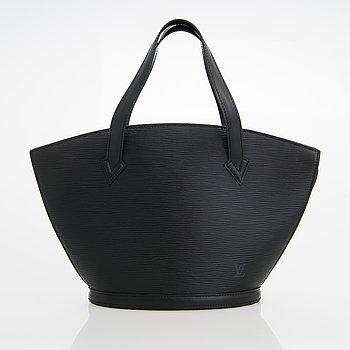 Louis Vuitton, A Black Epi Leather Saint Jacques PM Bag.