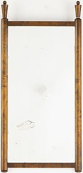 A stained birch mirror, from the series 'Bungalow', Nordiska Kompaniet, 1923, for The Gothenburg Exhibition.