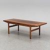 A 1950's/60's rosewood veneered coffee table.