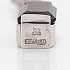 Efva attling, 18k white gold onyx and brilliant cut diamond earrings,