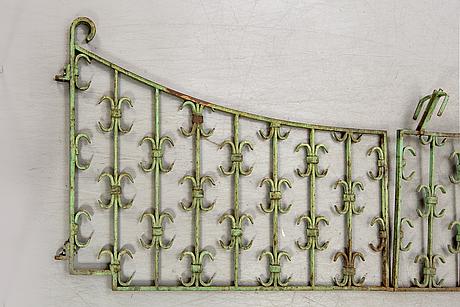 A pair of iron gates.