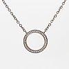 An 18k white gold efva attling necklace.