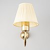 Three brass wall lamps, model 2335 and 2334, by josef frank, firma svenskt tenn.