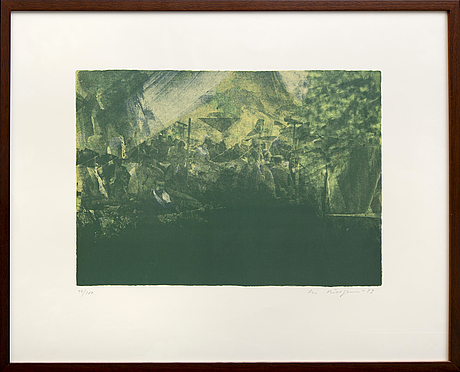 Ola billgren, a signed, numbered and dated colour lithograph.