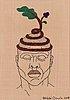 """Heikki orvola, embroidery, """"kenin päähine"""" series (ken's headgear), signed heikki orvola 2018."""