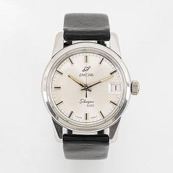 Enicar, Sherpa, Date, wristwatch, 34,5 mm.