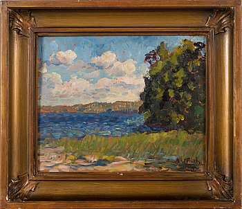 Alfred William Finch, oil on board, signed.
