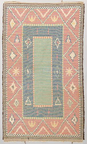 A swedish wool rug, early 20th century, 192x118 cm.