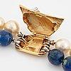 Ole lynggaard, 18k gold clasp with brilliant cut diamond.